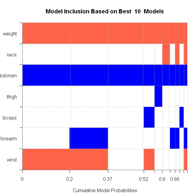 Reproducing the body fat example with BMS